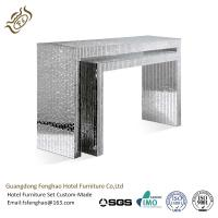 China Elegant Crystal Veneer Compact Glass Mirrored Console Table For Hotel Lobby Bedroom wholesale
