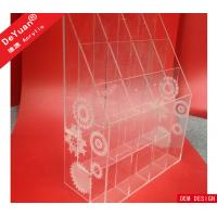 China Floral Engraved Acrylic Display Holder Custom Design Clear Riser on sale