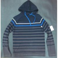 China Spring Mens Wool Sweaters Shirt Knitted Striped Pullover With Hood wholesale