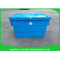 China Packaging Distribution Totes With Hinged Lid , Logistic Big Plastic Containers wholesale