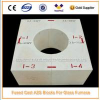 China Glass Factory Fused Cast AZS Refractory Zirconia Block wholesale