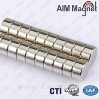 China 10mm dia x 5mm thick disk n42 strong magnet on sale