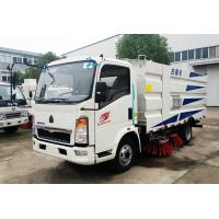 China Howo 4*2 Road Sweeper Truck , Road Cleaning Truck With 1.5cbm Water 4cbm Dust wholesale