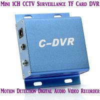 Quality Mini C-DVR 1CH CCTV Surveillance TF Card DVR Digital Audio Video Recorder Motion Detection for sale