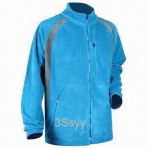 China Men's Fleece Jacket with Plastic Zipper wholesale