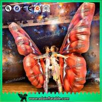 China Vivid Inflatable Cartoon Characters , Digital Printing Inflatable Butterfly Wing Model wholesale