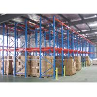 China Steel Drive In Heavy Duty Pallet Racking System Maximum 1500kg/Pallet wholesale