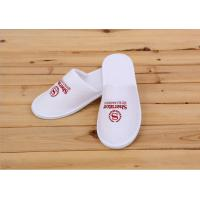 China Logo Printed White Color Disposable Hotel Slippers For Womens / Mens / Kids wholesale