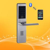 China Residential Smart Wireless Keypad Door Lock With Ultra Thin Panel And Handle wholesale