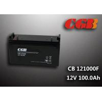 China CB121000F 12V 100Ah Valve Regulated Lead Acid Battery , Wind Supply Energy Storage AGM Battery wholesale