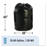 China 1.5mil Plastic Recyclable Garbage Bags Compostable Cornstarch Material wholesale
