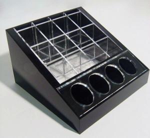 China Black Cosmetic Display Desktop Cosmetic Display Holders 15cm X 15cm wholesale