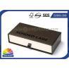 China Logo Printed Drawer Rigid Paper Gift Box Belt Cardboard Slide Case SGS Approval wholesale