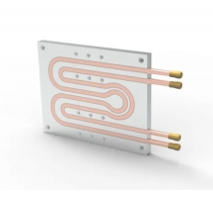 China Aluminum Water Liquid Cooling Plate , 290*130*55mm Igbt Heat Sink wholesale