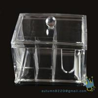 China acrylic cosmetic organizer box wholesale