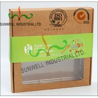 Rigid Kraft Paper Cardboard Food Packaging Boxes With Art Paper Wraped Finished