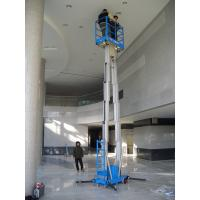 Quality Dual Mast Hydraulic Aerial Work Platform Manual Push Around 8 Meter Platform Height for sale