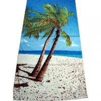 China 100% Cotton Full Reactive Printed Velour Beach Towels wholesale