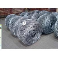 China Hot Dipped Galvanized Flat / Concertina Barbed Wire Reverse and Normal Twist wholesale