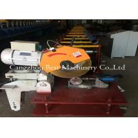 China Hydraulic Decoiler Cassette Round Pipe Down Spout Roll Forming Machine PLC Control 3 Tons Capacity wholesale