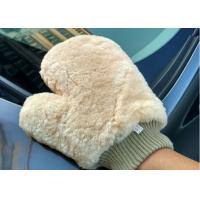 China Lambswool Wash Mitt For Car Interior Cleaning , Lambswool Polishing Mitt  on sale