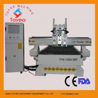 Buy cheap TYE cnc wood router machine with leadshine stepper motor ER 20 spindle,feeding equipment,three spindles  TYE-1325-3SF product