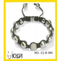China Excellent Finishing White Shamballa Crystal Beads Bracelet for Anniversary, Gift wholesale