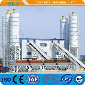 China HZS180 2x55KW AC 380V 50HZ Stationary Batching Plant wholesale