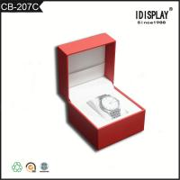 China Red Luxury Handmade Cardboard Gift Boxes / Women Watch Presentation Box  Classical Design wholesale