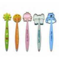 China soft PVC ballpoint pen with magnet wholesale