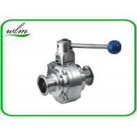 Quality High Sanitary Ball Valves , Stainless Steel Butterfly Valve For Beverage for sale
