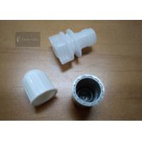 China Outer Dia 14mm Plastic Spout Cap White Color For Stand Up Pouch , Non - Toxic wholesale