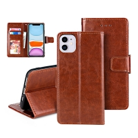 China Luxury Card Insert PU Trifold Leather Flip Cases wholesale
