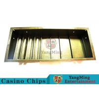 Quality Poker Table Dedicated Poker Chip Case Iron Metal With 4 Square Shape Row for sale