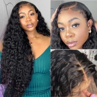Buy cheap Unprocessed Brazilian Human Hair Full Lace Wig OEM Vendors Water Wave from wholesalers