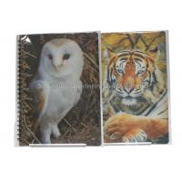 Quality Cute Souvenir Gift 3D Lenticular Notebook A4 Size Offset UV Printing for sale