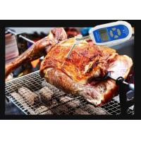 China Blue Kitchen Digital Food Thermometer / Waterproof Cooking Food Thermometer wholesale