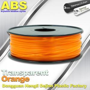 China ABS Desktop 3D Printer Plastic Filament Materials Used In 3D Printing Trans Orange wholesale