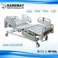 China Luxurious Plastic Guard Rails Electric Care Bed Five Functions with Central Brake For ICU Room wholesale