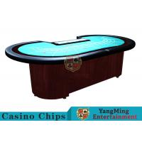 China Baccarat Standard Casino Poker Table / 80 Inch Large Poker TableFor 9 Players wholesale