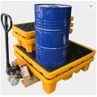 China Poly Drum Spill Containment Pallets For 200L Oil Tank , 4 drum spill containment plastic pallets wholesale