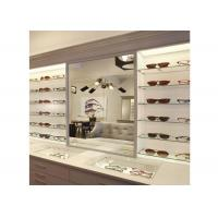 China Sunglasses Shop Wall Mounted Display Cabinets With Clear Termpered Glass Shelf wholesale