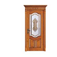 China Industry Leading Mosaic Glass Insert Lacquer Interior China Wooden Door wholesale