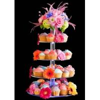 China 7-Tier Bakery clear acrylic display case , 5mm Cupcake Display Stand Rack wholesale