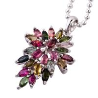 China 2012 HOT - Selling Crystal 925 Silver Gemstone Pendant K-BC-C757 wholesale