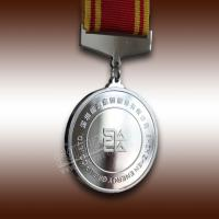 China Famous Company Souvenir Silver Medal With LOGO and Ribben wholesale
