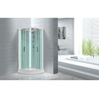 China Free Standing Quadrant Shower Cubicles With Transparent Tempered Glass Fixed Panel wholesale