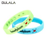 China Debossed color filled silicon wristband, Debossed silicone bracelet, Custom logo rubber bracelet wholesale
