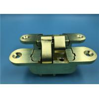 China Satin Brass Finish Heavy Duty Cabinet Door Hinges / Invisible Door Hinges wholesale