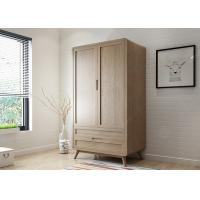 China Two Door Large Size Hotel Room Wardrobe Solid Wood Frame 1000 * 600 * 2100mm wholesale